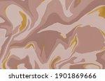 liquid marble pattern. brown...   Shutterstock . vector #1901869666