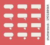 bubble talk   Shutterstock .eps vector #190188464
