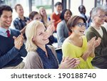 group of multiethnic cheerful... | Shutterstock . vector #190188740