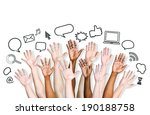 social networking icons. | Shutterstock . vector #190188758