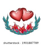 Two Hearts With A Flower...