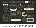 vintage typographic decorative... | Shutterstock .eps vector #1901889439