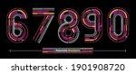 vector graphic alphabet in a...   Shutterstock .eps vector #1901908720