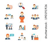 set of colorful business people ... | Shutterstock . vector #190191926