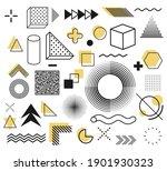 memphis  set of abstract... | Shutterstock .eps vector #1901930323