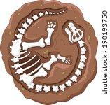 cartoon dinosaur fossil   Shutterstock .eps vector #190193750