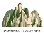realistic chinese rocky... | Shutterstock .eps vector #1901947846