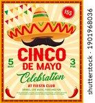 cinco de mayo sombrero vector...   Shutterstock .eps vector #1901968036