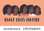 black lives matter poster with... | Shutterstock .eps vector #1901968693