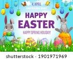 easter egg hunting vector... | Shutterstock .eps vector #1901971969