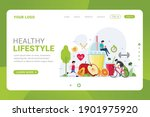landing page template healthy... | Shutterstock .eps vector #1901975920