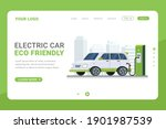 landing page template electric... | Shutterstock .eps vector #1901987539