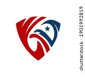 eagle logo design vector ... | Shutterstock .eps vector #1901992819