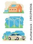 set of ecological energy... | Shutterstock .eps vector #1901994046