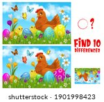 kids game find ten differences... | Shutterstock .eps vector #1901998423