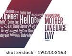 international mother language... | Shutterstock .eps vector #1902003163