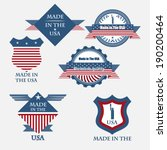 set of various made in the usa... | Shutterstock .eps vector #190200464