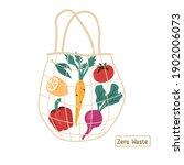 fresh vegetables in eco... | Shutterstock .eps vector #1902006073