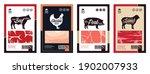 vector butchery labels with... | Shutterstock .eps vector #1902007933