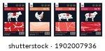 vector butchery modern style... | Shutterstock .eps vector #1902007936