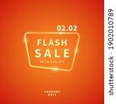2.2 sale discount banner... | Shutterstock .eps vector #1902010789