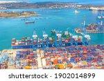 Huge Cma Cargo Ship For...