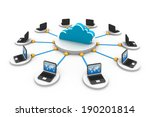 cloud computing concept  | Shutterstock . vector #190201814
