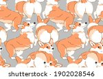 seamless wallpaper pattern....   Shutterstock .eps vector #1902028546