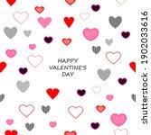 seamless valentine pattern... | Shutterstock . vector #1902033616