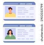 drivers id card. woman and man... | Shutterstock .eps vector #1902033799