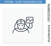 electroencephalogram line icon. ... | Shutterstock .eps vector #1902038896