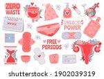menstruation hygiene. female...   Shutterstock .eps vector #1902039319