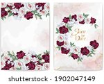 collection of  floral borders....   Shutterstock .eps vector #1902047149