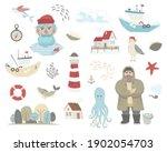 Set Of Marine Elements   Sailor ...