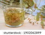 Linden Tea In A Glass Cup  A...