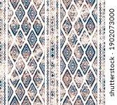 geometric kilim ikat pattern... | Shutterstock . vector #1902073000