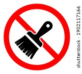 stop brush icon. do not paint... | Shutterstock .eps vector #1902117166