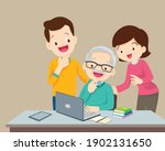 adult online education concept... | Shutterstock .eps vector #1902131650