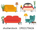 armchairs and sofas set. living ...   Shutterstock .eps vector #1902170626