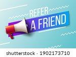 refer a friend. vector... | Shutterstock .eps vector #1902173710