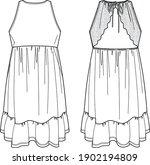 vector summer dress fashion... | Shutterstock .eps vector #1902194809