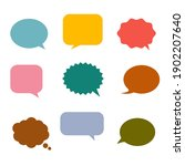 colorful speech bubbles and...   Shutterstock .eps vector #1902207640