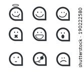 emotion face icons   Shutterstock .eps vector #190222580