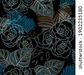 vintage luxury seamless floral... | Shutterstock .eps vector #1902235180