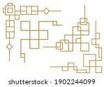 chinese frame outline elements. ... | Shutterstock .eps vector #1902244099