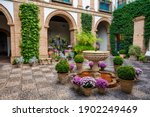 Courtyard garden of viana...