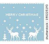 deer pixel art. pixel... | Shutterstock .eps vector #190225193