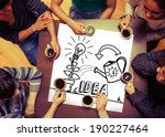 composite image of idea and... | Shutterstock . vector #190227464