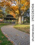 Gazebo And Path With Autumn...