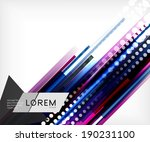 straight lines abstract vector... | Shutterstock .eps vector #190231100